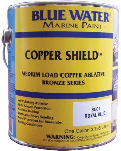 Blue Water Marine Paint Copper Shield, Ablative, Royal Blue, Gallon