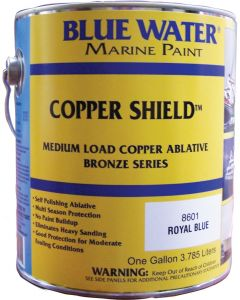 Blue Water Marine Paint Copper Shield, Ablative, Royal Blue, Quart