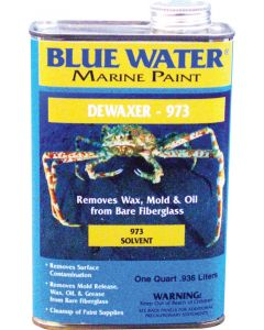 Blue Water Marine Paint Dewaxer 973, Quart