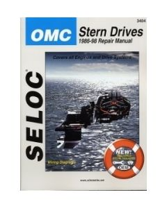 Seloc OMC Stern Drives 1986-1998 Repair Manual Powered by Ford or GM 4 Cylinder, V6, V8, Includes Carbureted & Fuel Injection