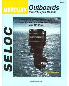 Seloc Mercury Outboard ONLY, 90-300HP 1965-1989 Repair Manual Inline 6 Cylinder & V6, 2 Stroke, Includes Fuel Injection & MR Drives