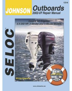 Seloc Johnson Outboard ONLY, 2.5-250HP 2002-2007 Repair Manual 2 & 4 Stroke
