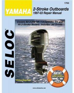 Seloc Yamaha Outboards 2-250HP 1997-2009 Repair Manual 1-4 Cylinder, V4, V6, All 2 Stroke Models, Includes Jet Drives