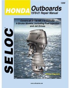 Seloc Honda Outboards 2-130HP 1978-2001 Repair Manual 1-4 Cylinder, 4 Stroke