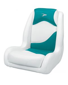 Wise Bucket Seat Contemporary Series Recargo Style, White-Teal