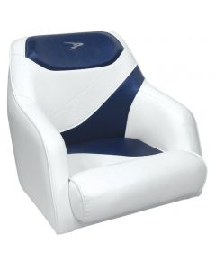 Wise Traditional Style Bucket Seat Contemporary Series, Blue-White