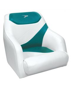 Wise Traditional Style Bucket Seat Contemporary Series, White-Teal