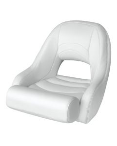 Wise Bucket Seat 1156 with Flip-Up Bolster, White