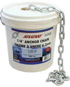 "Seasense 5/16""x45' Galvanized Bulk Anchor Chain, 1700lb Load"