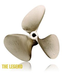 "OJ Propellers Legend Nibral 3-Blade 13 x 13 L 1-1/8"" Bore"