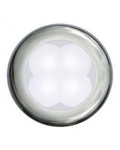 Hella Led Slim Line, White Lamp, Courtesy, Round, 12v, Stainless Steel Rim