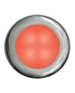 Hella Led Slim Line, Red Lamp, Courtsey, Round, 12v, Stainless Steel Rim