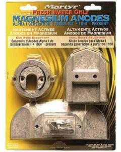 Martyr Anodes Mercury/Mercruiser Anode Kit, Magnesium, ALPHA 1 GEN II