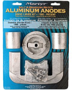 Martyr Anodes Mercury/Mercruiser Anode Kit, Aluminum, Bravo 1