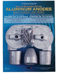 Martyr Anodes Mercury/Mercruiser Anode Kit, Aluminum, Bravo III 2004 - Present