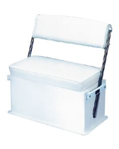 Todd Swingback Boat Seat With Aluminum Arms, White
