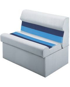 "Wise Deluxe Pontoon 37"" Lounge Seat, Light Gray-Navy-Blue"