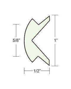 "Taco Marine 1""x1/2"" Frosty White Prepacked Flexible Rub Rail Insert 50' - Taco"
