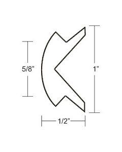 "Taco Marine 1""x1/2"" White Prepacked Flexible Rub Rail Insert 50' - Taco"