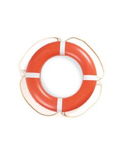 "Taylor Made 24"" Ring Buoy, Orange with White Rope"