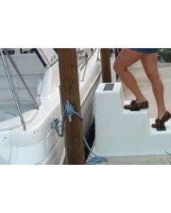 "Taylor Made Stepsafe 35""Lx25""Wx25.5""H Triple Tread Dock Step"