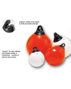 "Taylor Made Tuff End 18"" Inflatable Vinyl Buoy, 112lb Buoyancy, Orange"