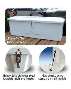 """Taylor Made Stow 'n Go 18""""Hx48""""Wx20""""D Medium Low-Profile Dock Box"""