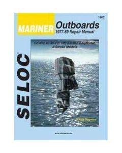 Seloc Mariner Outboard ONLY, 45-220HP 1977-1989 Repair Manual 3-4 & Inline 6 Cylinder & V6, 2 Stroke, Includes Fuel Injection