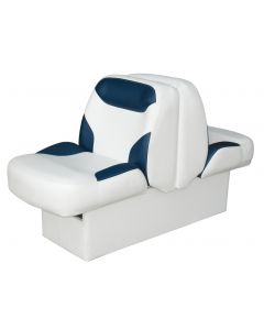 Wise Bayliner Capri and Classic Back-to-Back Lounge Seat with Floor Base, White-Blue