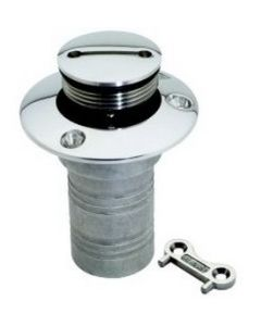 """Attwood Replacement Cap and Chain Only, for 1 1/2"""" Deck Fills"""