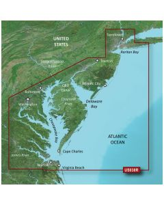 Garmin Bluechart G2 - VUS038R - New York To Chesepeake - Vision MicroSD & SD