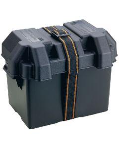 Attwood Standard Boat Battery Box, Black