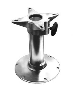 """Garelick Polished 24"""" Fixed Height Seat Pedestal Package"""