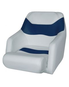 Wise Bucket Seat 1205 with Arms and Flip-Up Bolster, Marble-Midnite Blue