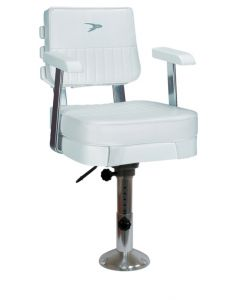 """Wise Ladder Back Helm Chair 562 with Cushions, 12-18"""" Adjustable Pedestal and Seat Slide"""