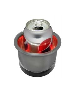 Seasense, Stainless Steel LED Recessed Cup Holder, Red, Recessed Cup Holders