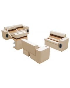 Wise Deluxe Series Small Traditional Group Sand Chesnut Gold Boat Seats