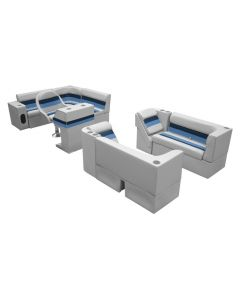 Wise Deluxe Pontoon Complete Boat Group G, Gray-Navy-Blue