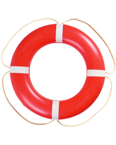 "Taylor Made Ring Buoy, 30"" Orange w/White Rope, SOLAS Approved Ring Suitable for Quick Release From the Bridge"