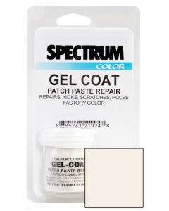 Spectrum Color Boston Whaler, 2004-2016, Whaler White ASH LVOC Color Boat Gel Coat Patch Paste Repair Kit