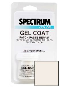 Spectrum Color Chaparral, 2000-2016, Mission White ASH LVOC Color Boat Gel Coat Patch Paste Repair Kit