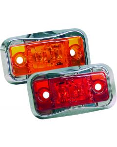 Wesbar LED Clearance Light with Chrome Bezel, Amber
