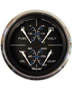 "Faria Chesapeake SS Multifunction, 4"" (Fuel, Oil PSI, Water Temp, Voltmeter)"