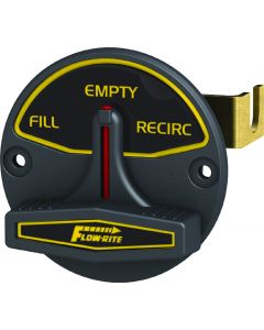 Flow-Rite Actuator, Recirc/Empty/Auto, White Lettering