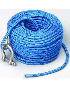 "Trac Outdoor Products Anchor Rope, 0.20"" x 100', Blue"