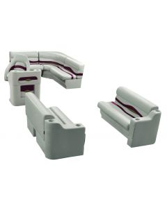 Wise Premier Pontoon 8 ft with Boat Rear Entry Group, Platinum-Platinum Punch-Wineberry-Manatee