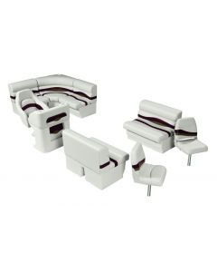 Wise Premier Pontoon Angler 8 ft with Boat Rear Entry Group, Platinum-Platinum Punch-Wineberry-Manatee