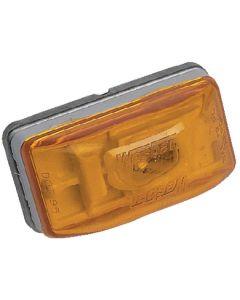 Wesbar Waterproof Combination Side Marker & Clearance Light, Stud Mount, Amber