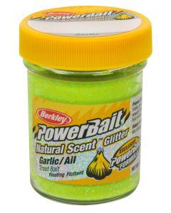 Powerbait Berkley Natural Scent Glitter Trout Bait Garlic Scent - Color: Chartreuse