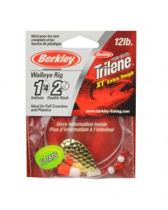 Berkley Walleye Rig - Type: Indiana #4, Hook Ct./Size: 2 / 2, Color: Hammered Gold, Float: Yes